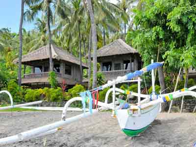 Hotel Bali Amed Coral View Bungalows plage